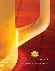 Annual Report - The Beer Institute
