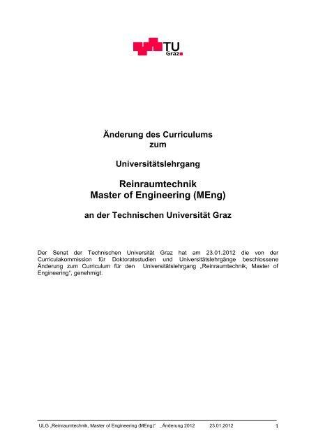 Reinraumtechnik Master of Engineering (MEng) - mibla.TUGraz.at