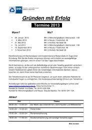 Flyer Gründen mit Erfolg 2013 - IHK Mittlerer Niederrhein