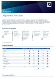 Algorithms in Action - Autobahn - Deutsche Bank