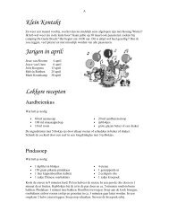 Klein Kontakt Jarigen in april: Lekkere recepten - Ter Idzard