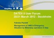 Template for UF2012 presentations - Datex II