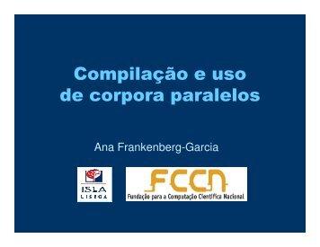 FRANKENBERG-GARCIA, Ana. Corpus Paralelo. - letras.etc.br