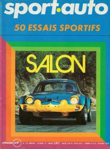 Salon 1972 par Jean-Louis Moncet - Alpine-Renault A310 4 cylindres