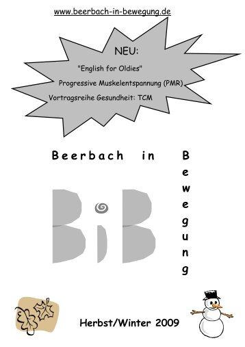 2009 Halbjahr 2 - Beerbach-in-Bewegung
