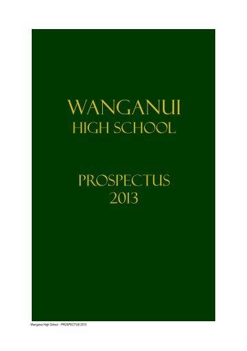 wanganui high school values