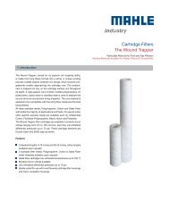 Cartridge Filters The Wound Trapper - MAHLE Industry - Filtration