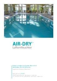 Betriebsanleitung F - AIR-DRY
