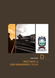 Investment and Cash Management Policy - Buffalo City