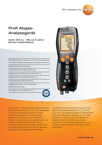 Profi Abgas- Analysegerät - Aura Nord