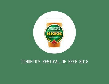 Toronto's Festival of Beer 2012 - the Toronto Festival of Beer