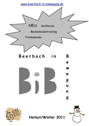 2011 Halbjahr 2 - Beerbach-in-Bewegung