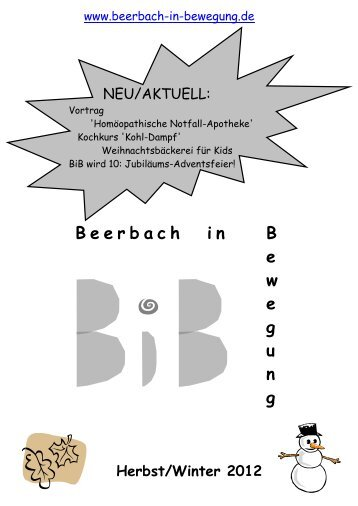 2012 Halbjahr 2 - Beerbach-in-Bewegung