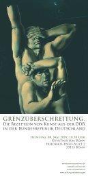 Flyer als PDF - Sichtwechsel - Agentur für Kunst und Kulturgeschichte