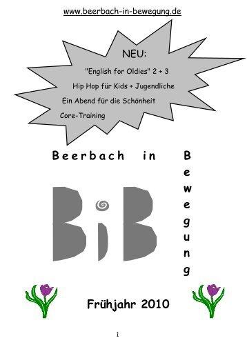 2010 Quartal 1 - Beerbach-in-Bewegung