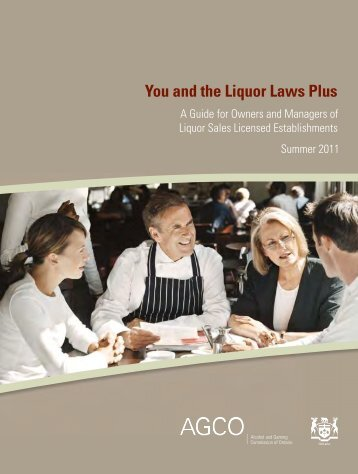 You and the Liquor Laws Plus - Alcohol and Gaming Commission of ...