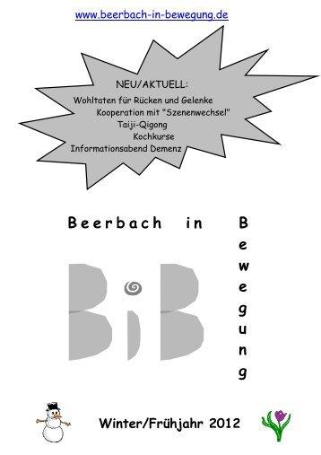 2012 Quartal 1 - Beerbach-in-Bewegung