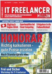 IT Freelancer Magazin Nr. 2/2011