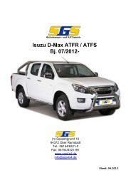 D-Max Typ ATFR / ATFS Bj. ab 07/2012 - SGS