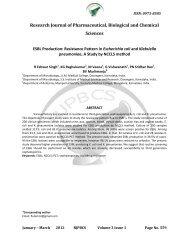 ESBL Production: Resistance Pattern in Escherichia coli ... - RJPBCS
