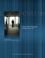 CEO Forum Report - Construction Industry Round Table (CIRT)