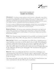 barium enema - Trinity Health