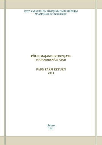 FADN raamat 2011 (PDF 1,8 MB) - Põllumajandusministeerium
