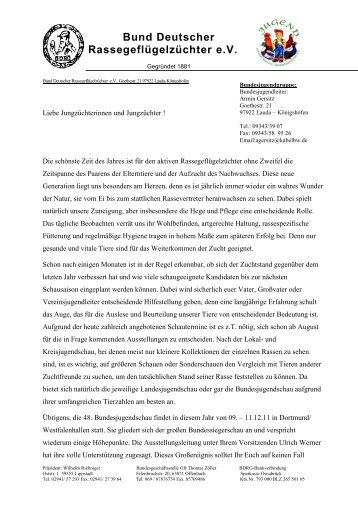 Pressebericht - Jugendseite der Rassegeflügelzüchter Westfalen ...