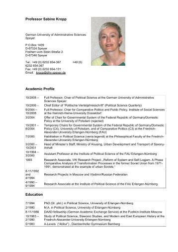 Professor Sabine Kropp