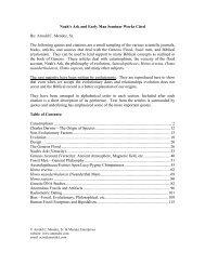 Selected Articles and Citations - Noah's Ark & Early Man Seminars
