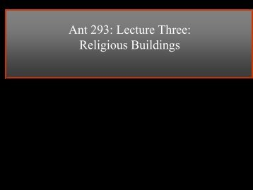Lecture 3: Religious Buildings (Stripped)