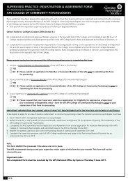 supervised practice: registration & agreement form - APS Member ...