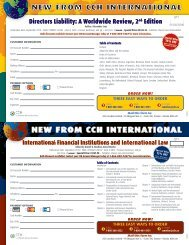 new from cch international new from cch international - CCH Canadian