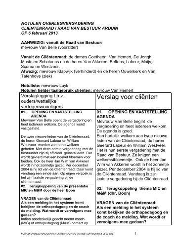 notulen 6 februari 2013 - Arduin