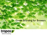 Green Branding for Brewers - Great Lakes Water Conservation ...