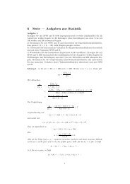 6 Serie — Aufgaben zur Statistik