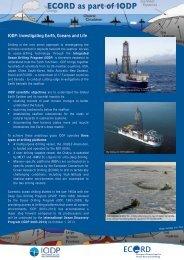 ecord-iodp - European Consortium for Ocean Research Drilling