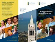 The Achievement Award Program Brochure - Berkeley City College