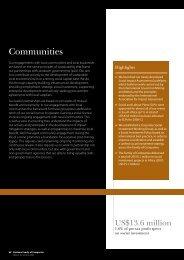 Communities: 2008 Report to Society - De Beers Group