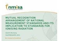 mutual recognition arrangement of national measurement standards ...