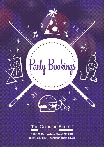 Party Bookings - The Common Room