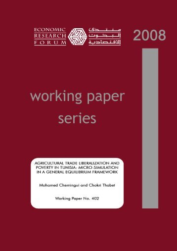 Agricultural Trade Liberalization and Poverty in Tunisia - Economic ...