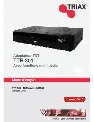 Manuel TTR 301 - Triax