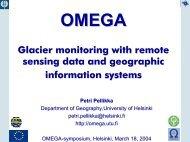 OMEGA Glacier monitoring with remote sensing data and ...