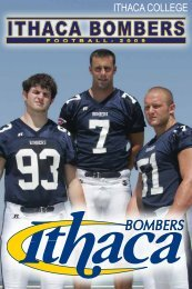 ITHACA COLLEGE - College Football Dvds-Media Guides Project