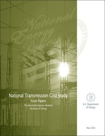 National Transmission Grid Study Issue Papers - CiteSeerX