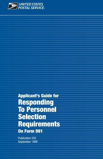 Pub 555 Applicant's Guide for PS-991