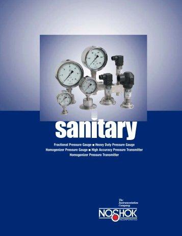 NOSHOK Sanitary Pressure Catalog