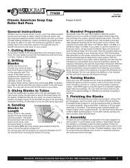 1 77A58 Classic American Snap Cap Roller Ball Pens ... - Woodcraft