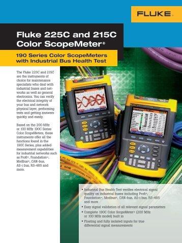 Fluke 225C and 215C Color ScopeMeter® - Ampmech.com